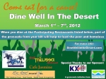 """Press Release: First Annual """"Dine Well in the Desert"""" Feeds Two Mouths With OneSpoon"""
